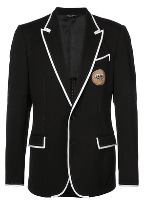 Dolce & Gabbana contrast piping blazer - Black