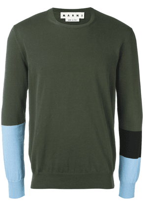 Marni colour block jumper - Green