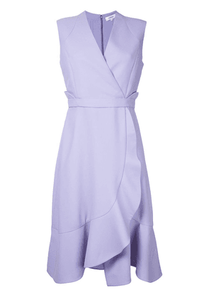 Carven frill hem wrap dress - Pink