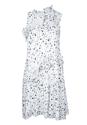 Carven dots print dress - White