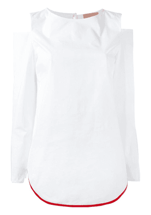 Erika Cavallini cut-out shoulders blouse - White