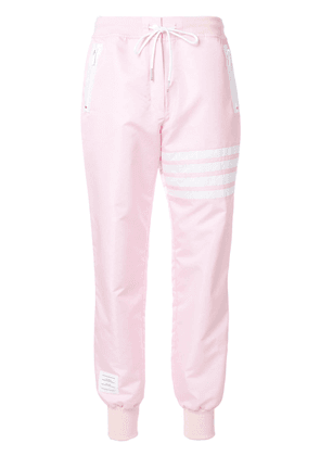 Thom Browne Lightweight Sweatpants With Seamed-in 4 Bar Stripe In
