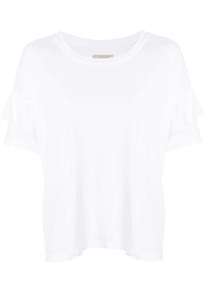 Current/Elliott frill trim T-shirt - White