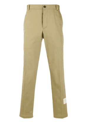 Thom Browne Cotton Twill Unconstructed Chino Trouser - Neutrals