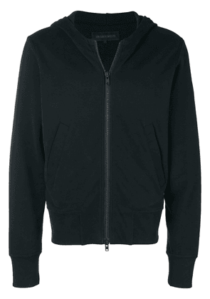 Ann Demeulemeester zipped hooded jacket - Black