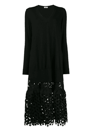 No21 embroidered sweater dress - Black
