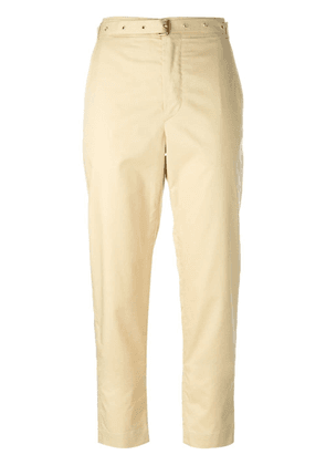 Isabel Marant belted chino trousers - Yellow