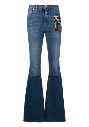 Dolce & Gabbana logo patch flared jeans - Blue