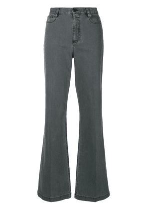 Fendi high-waisted flared jeans - Grey