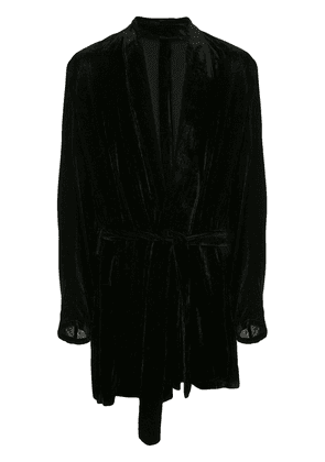 Ann Demeulemeester long corduroy robe jacket - Black
