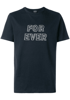 A.P.C. for ever T-shirt - Blue