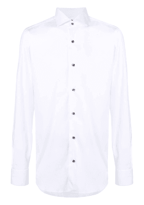 Barba button front classic shirt - White