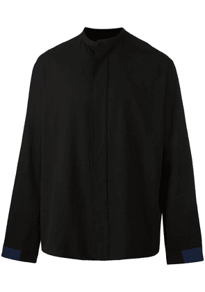 Haider Ackermann collarless shirt - Black