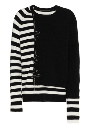 Haider Ackermann embroidered stripe jumper - Black