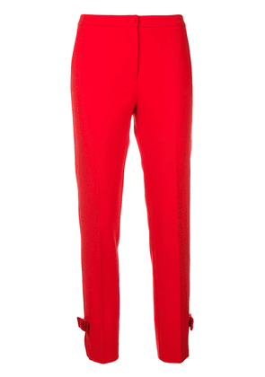 Blumarine high-waisted cropped trousers - Red