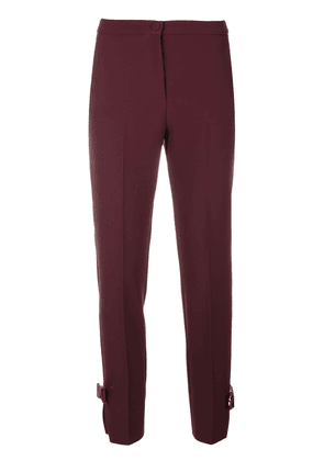 Blumarine high-waisted cropped trousers - Pink