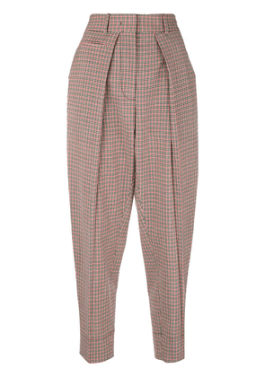 Cédric Charlier checked trousers - Red