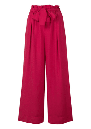 Forte Forte cropped palazzo pants - Pink