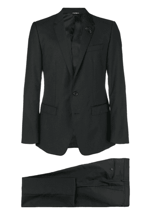Dolce & Gabbana textured two piece suit - Black