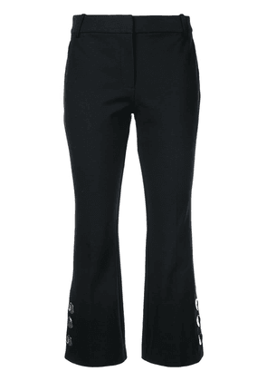 Derek Lam 10 Crosby Cropped Flare Trouser with Button Slit Hem Detail