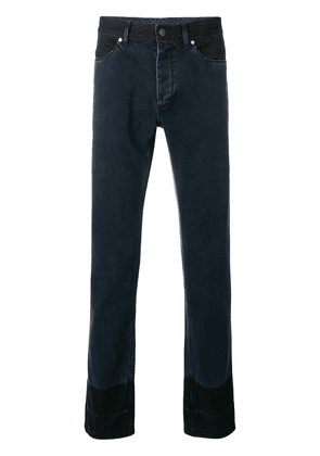 Lanvin two tone slim fit jeans - Blue