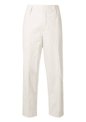 Forte Forte straight-leg cropped trousers - White