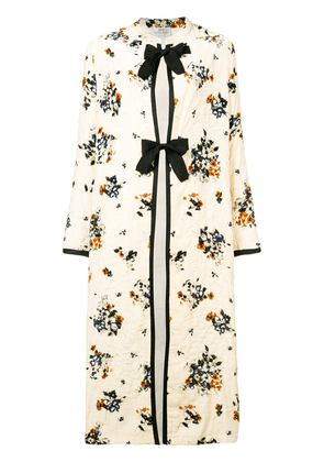 Forte Forte floral embroidered coat - Neutrals