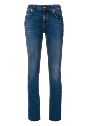 7 For All Mankind turned-up hem jeans - Blue