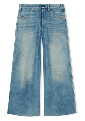 Gucci Denim pants with patches - Blue