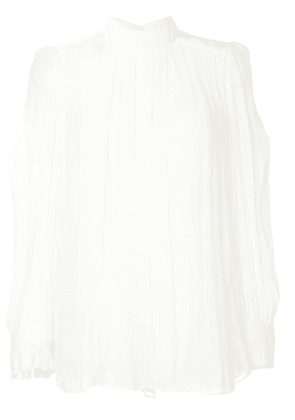 Manning Cartell ruffle top - White