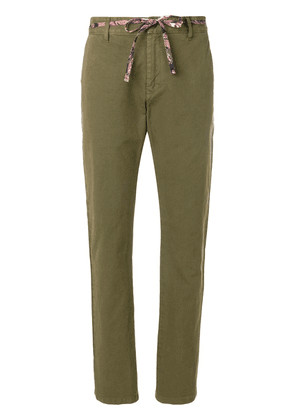 Isabel Marant contrast belted trousers - Green