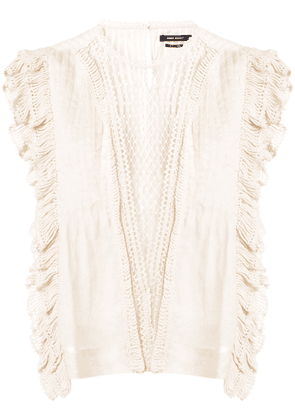 Isabel Marant embroidered blouse - Neutrals
