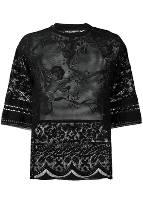 Dolce & Gabbana lace T-shirt - Black