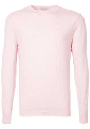 Gieves & Hawkes crew neck jumper - Pink