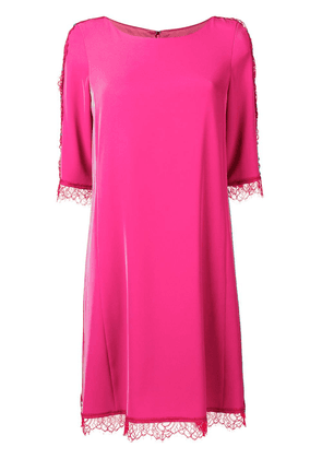 Blumarine embroidered lace detailed dress - Pink
