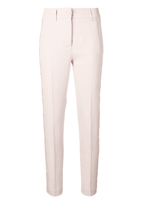 Blumarine lace detailed tailored trousers - Neutrals