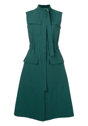 Cédric Charlier utility midi dress - Green