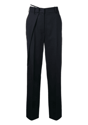 Cédric Charlier wrap front tailored trousers - Blue