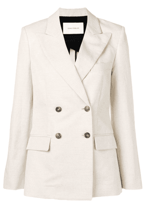 Cédric Charlier double breasted blazer - White