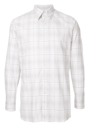 Gieves & Hawkes long sleeved checked shirt - Neutrals