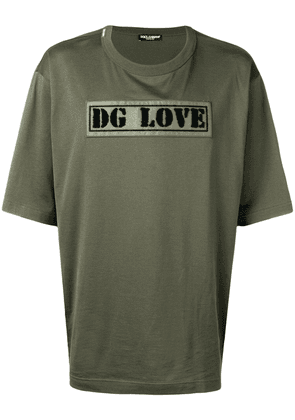 Dolce & Gabbana DG Love T-shirt - Green