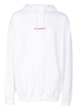 F.A.M.T. Unloveable hoodie - White