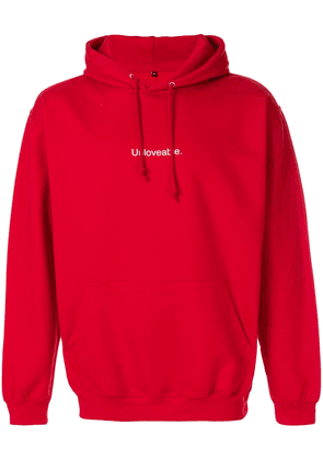 F.A.M.T. Unloveable hoodie - Red