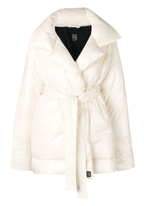 Bacon belted down coat - Neutrals