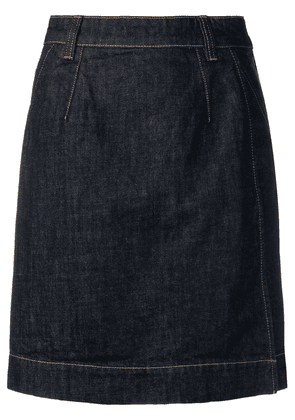 Carven A-line denim skirt - Blue