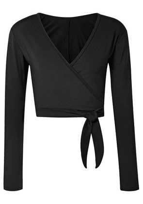 Ballet Beautiful - Stretch Wrap Top - Black