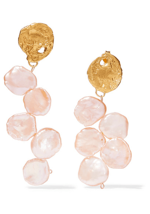 Alighieri - Gold-plated Pearl Earrings - one size