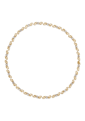 Diamond 18k gold necklace