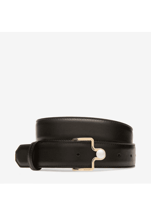 Bally Marcella 30Mm Black, Women's calf leather fixed belt in black