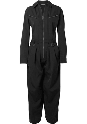 Givenchy - Grain De Poudre Wool Jumpsuit - Black